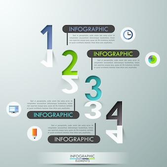Bannière d'options d'infographie moderne
