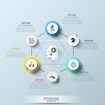 Bannière d'options de style de cercle d'affaires moderne