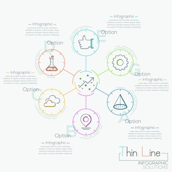 Bannière d'options de style entreprise moderne cercle origami.