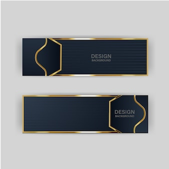 Bannière d'or luxe doré lumière couleur toile de fond