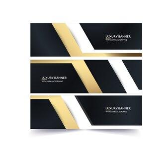 Bannière d'or de luxe