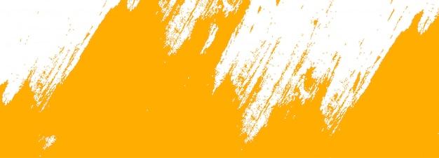 Bannière orange abstraite