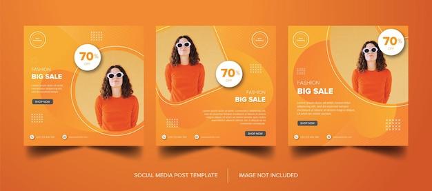 Bannière orange fashion premium téléchargement gratuit