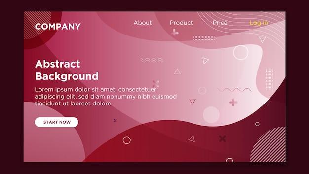 Bannière de la page d'accueil du site web abstrait