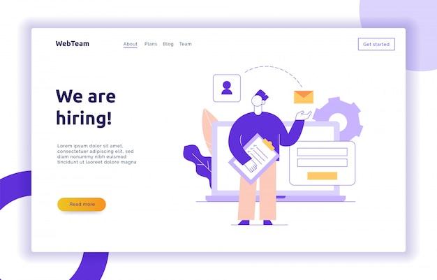 Bannière de page web vecteur stratégie de travail d'équipe et d'affaires
