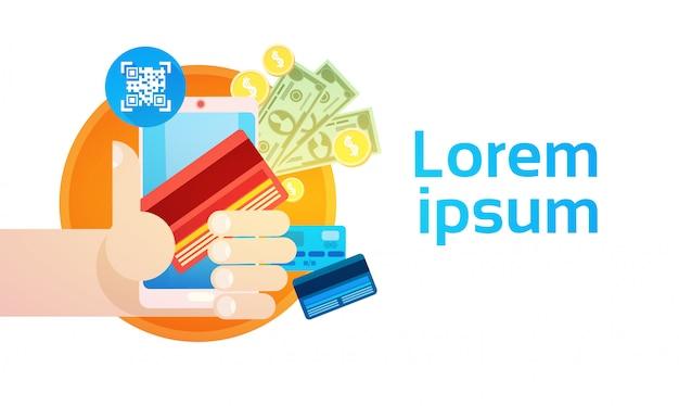 Bannière de paiement pour services bancaires en ligne