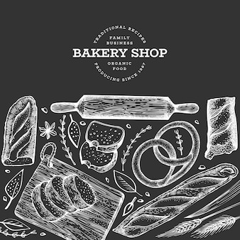 Bannière de pain et de pâtisserie.