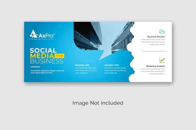 Bannière de panneau d'affichage de médias sociaux