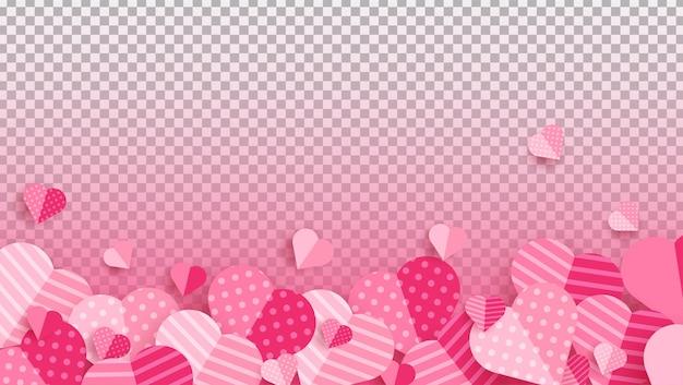 Bannière panoramique de la saint-valentin