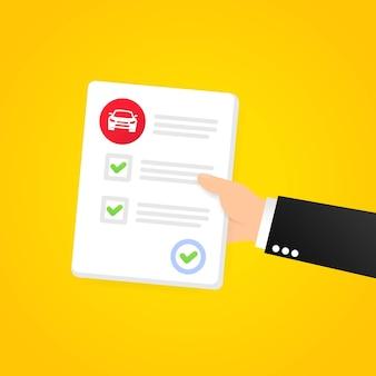 Bannière de papier d'examen de conduite réussie. examen auto-école. vecteur sur fond isolé. eps 10.
