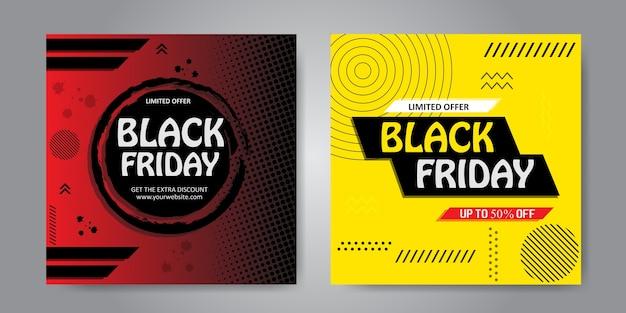 Bannière peinte colorée pour jeu de vendredi noir