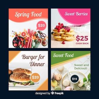 Bannière photographique d'offre alimentaire
