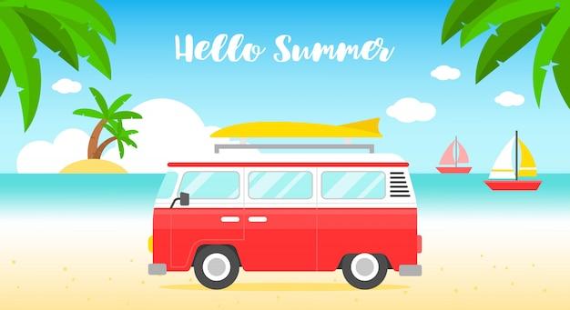 Bannière de plage d'été