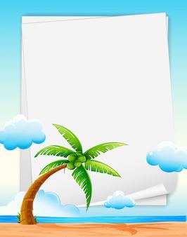 Bannière de plage