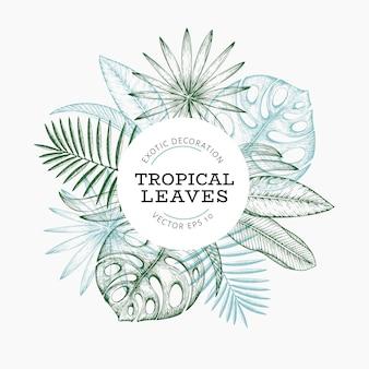 Bannière de plantes tropicales