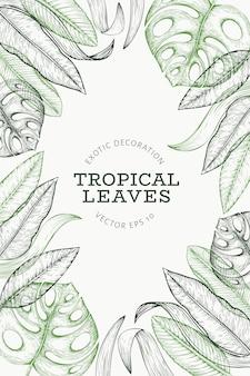 Bannière de plantes tropicales.