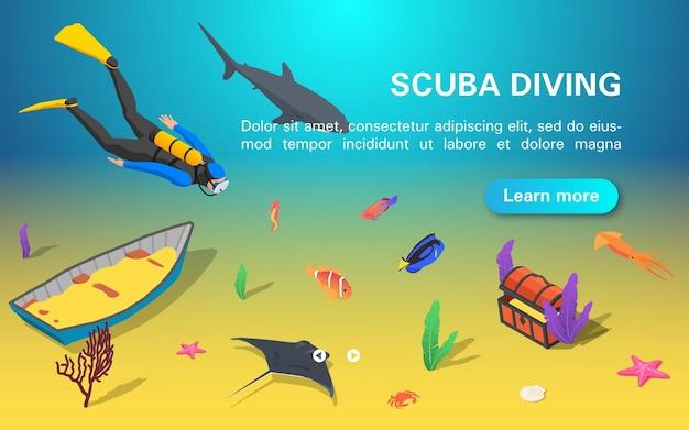 Bannière de plongée sous-marine