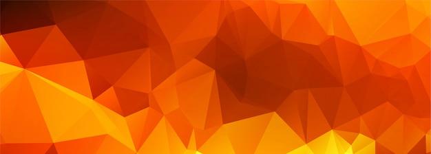 Bannière de polygone coloré abstrait