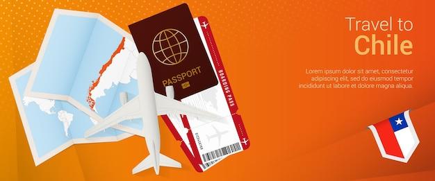 Bannière popunder de voyage au chili bannière de voyage