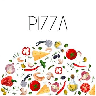 Bannière pour boîte à pizza.