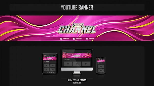 Bannière pour canal de médias sociaux avec concept gamer