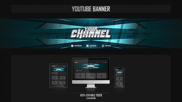 Bannière pour canal de médias sociaux avec concept de musique