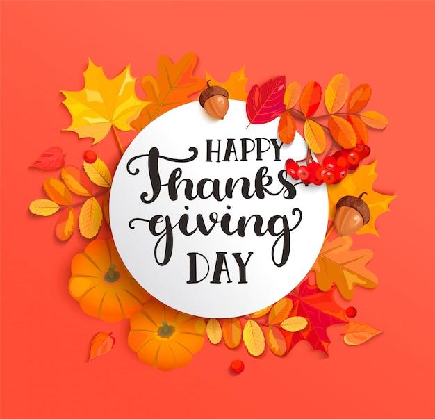 Bannière pour la célébration du jour de thanksgiving heureux.