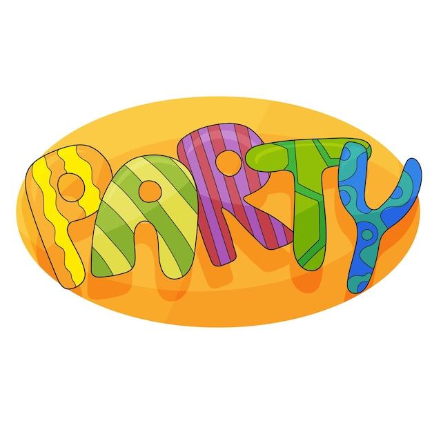 Bannière pour la fête des enfants en style cartoon avec arrière-plan. endroit pour s'amuser et jouer, salle de jeux pour enfants pour une fête d'anniversaire. affiche pour la décoration de la salle de jeux pour enfants. illustration vectorielle