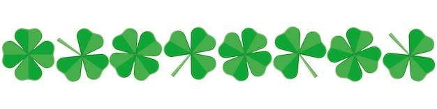 Bannière pour le jour du trèfle vert de la saint patrick