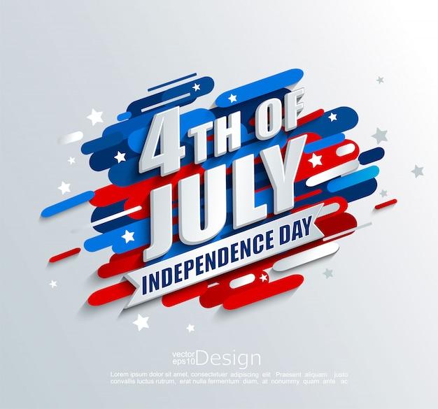 Bannière pour le jour de l'indépendance des etats-unis