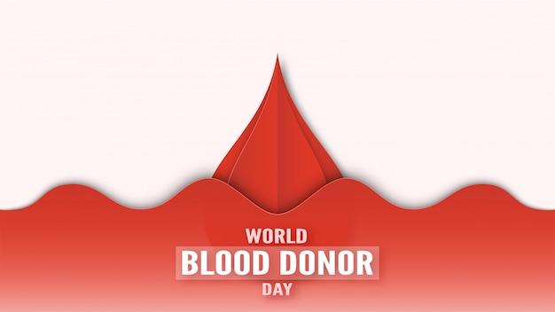 Bannière pour la journée mondiale du don de sang au mois de juin