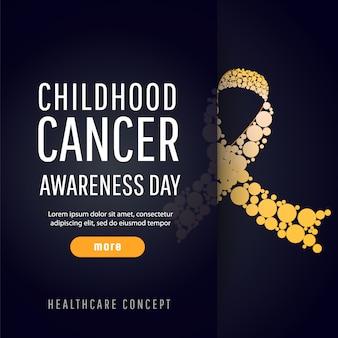 Bannière pour la journée de sensibilisation au cancer infantile
