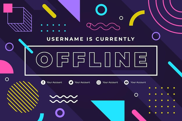 Bannière pour la plate-forme twitch hors ligne