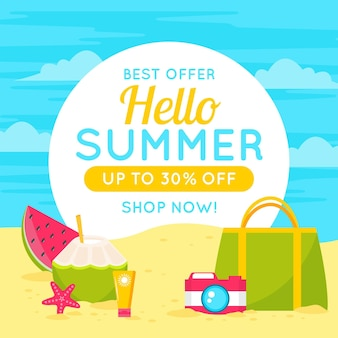 Bannière pour vente d'été