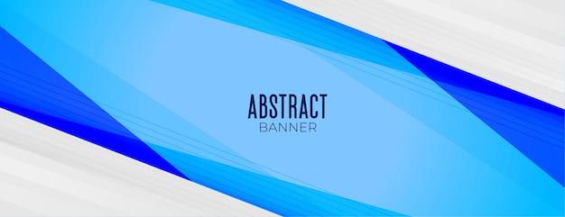 Bannière de présentation d'entreprise en couleur bleue