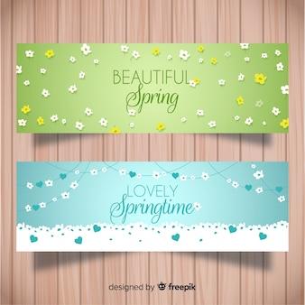 Bannière de printemps brillant