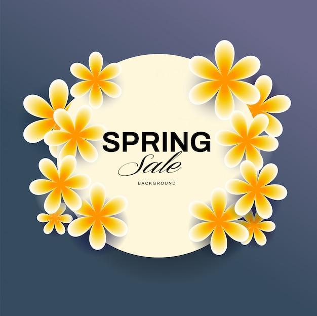 Bannière de printemps avec cadre