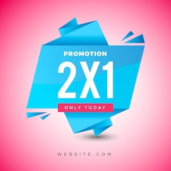 Bannière de promotion 2x1
