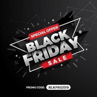 Bannière de promotion black friday sale