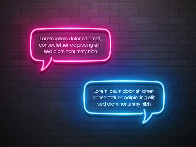 Bannière de promotion bulle de lumière néon, étiquette de prix, réduction