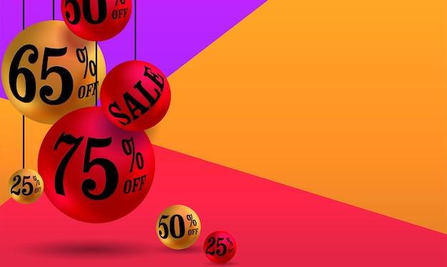 Bannière de promotion élégante 3d pour promouvoir votre entreprise et votre offre