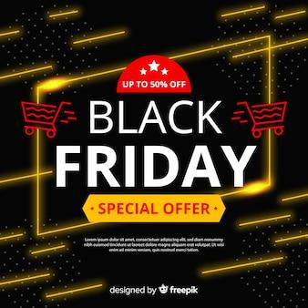 Bannière de promotion spéciale vendredi noir design plat