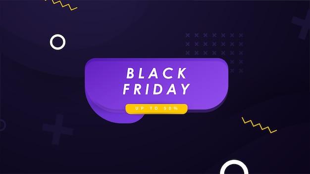 Bannière de promotion de vente black friday