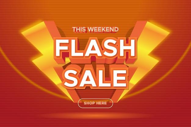 Bannière de promotion de vente flash