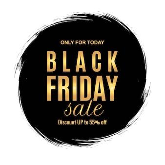 Bannière de promotion de vente vendredi noir