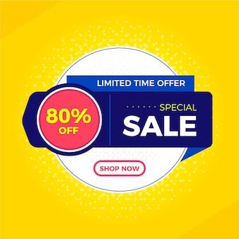 Bannière de promotion des ventes abstraite