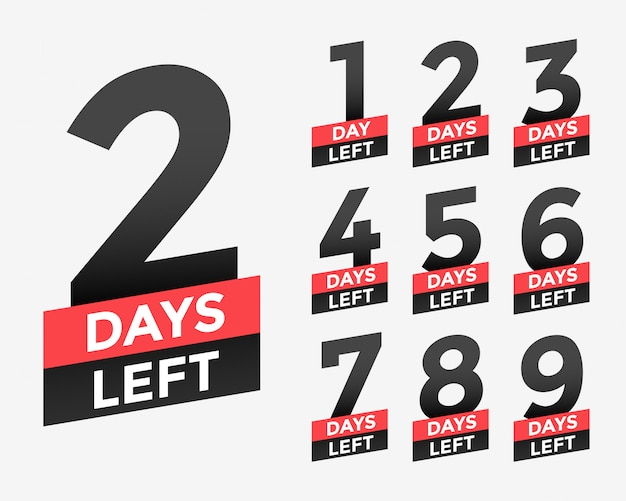 Bannière promotionnelle avec le nombre de jours restants