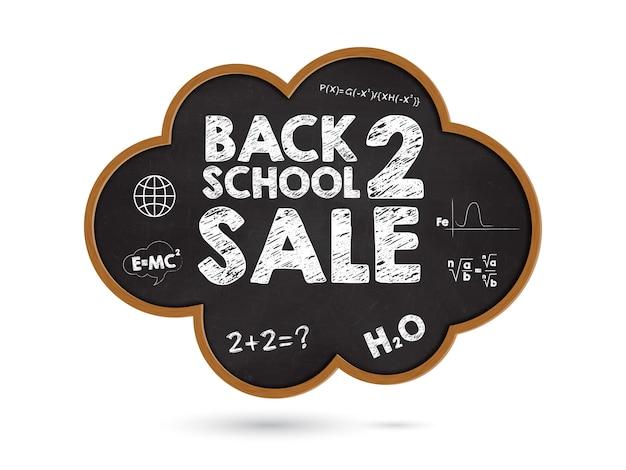Bannière promotionnelle de retour à l'école à prix réduit.