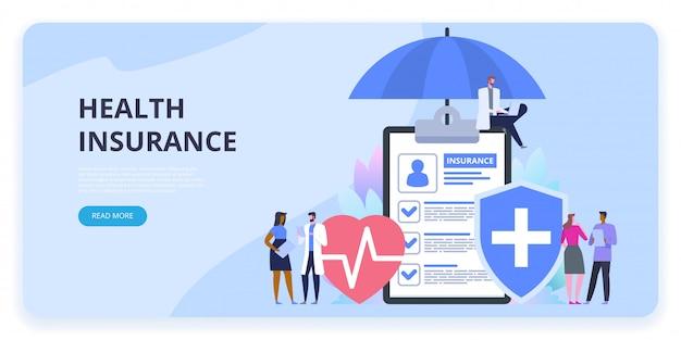 Bannière de protection d'assurance maladie