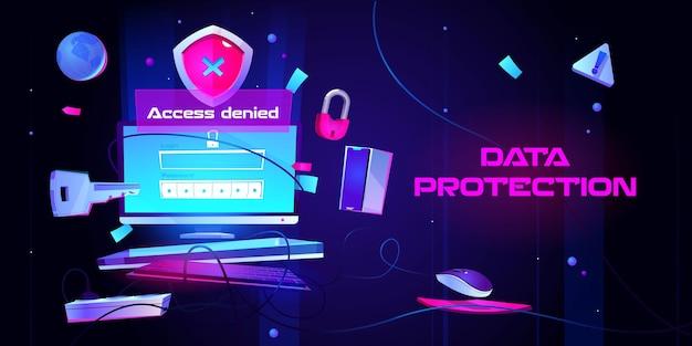 Bannière de protection des données personnelles